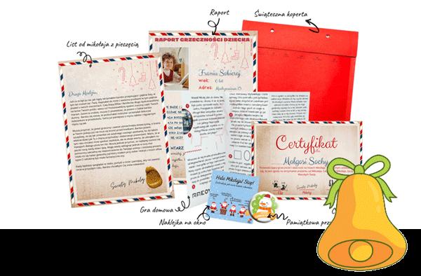 mikołaj online-pakiet grzecznego dziecka-list od mikołaja